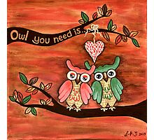 Owl You Need Is... LOVE Photographic Print