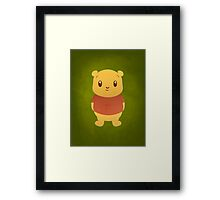 Cute Pooh Bear Framed Print