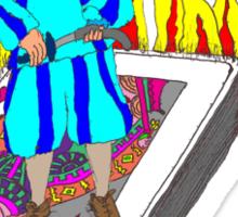The Boy Stood on the Burning Deck Sticker