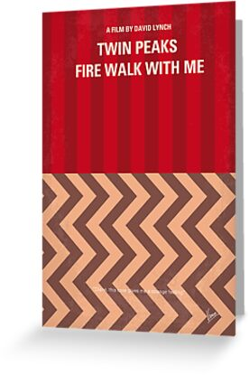 No169 My Fire walk with me minimal movie poster by Chungkong