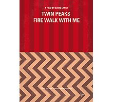 No169 My Fire walk with me minimal movie poster Photographic Print