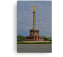 Victory Column of Berlin, HDR photo Canvas Print