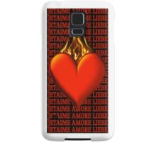 *•.¸♥♥¸.•* BURNING LOVE IPHONE CASE *•.¸♥♥¸.•* Samsung Galaxy Case/Skin