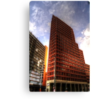 the streets of berlin, HDR photo Canvas Print