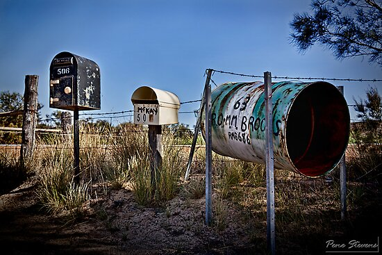 Three Rural Boxes  by Pene Stevens