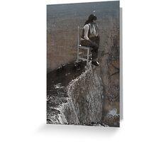 precipice Greeting Card