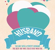 Husband, Modern Valentine's Greeting Card by Moonlake