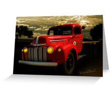 Flatbed Truck at Hevenor Lumber Greeting Card