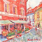 Coffee in Bratislava by Yevgenia Watts