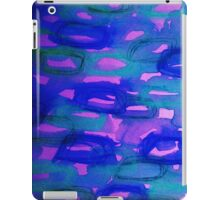 BEFORE THE DAWN - Deep Sultry Midnight Indigo Blue Pink Abstract Watercolor Painting Sunrise Dawn iPad Case/Skin