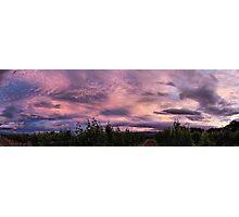 Purple skies over Georges Michel Wine Estate Photographic Print