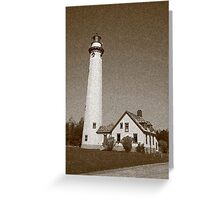 Lighthouse with Sponge Painting Effect Greeting Card