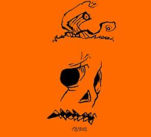 Pumpkinhead - Express Ya Face - Ipad - Orange by tribal191983