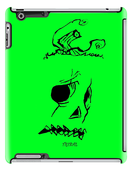 Pumpkinhead - Express Ya Face - Green - Ipad Case by tribal191983