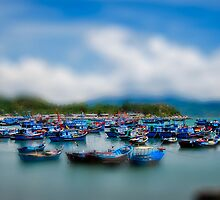 The bay of little blue boats. by salsbells69