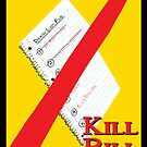 Original Kill Bill minimalist movie poster by Dan Koskie