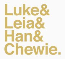 Luke & Leia & Han & Chewie Kids Clothes