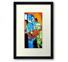 Banjo Lesson Revisited Framed Print