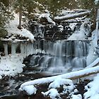 Wagner Falls in Winter by DArthurBrown