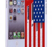 Fashion Sliding the Stars and the Stripes Hard Cover Case For Iphone 4/4s/5 by onfancy
