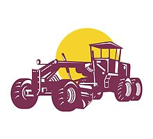 Vintage Road Grader Retro  by patrimonio