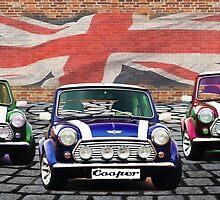 Mini Cooper Trio  by Anthony  Poynton