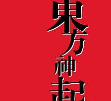 Tohoshinki - Black on Red 2 by Badymaru