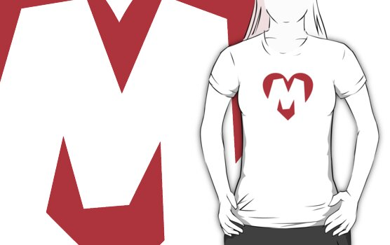 I love M - Heart M - Heart with letter M by theshirtshops