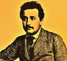 Albert Einstein 1904 in Bern hdr burn by Adam Asar
