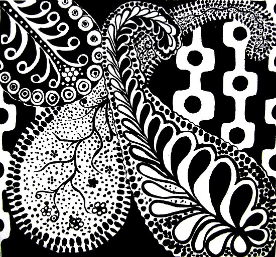 CEM-Black-White-001-Contemporary Ethnic Mix by Pat - Pat Bullen-Whatling Gallery
