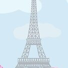 eiffel tower with roses by Marishkayu