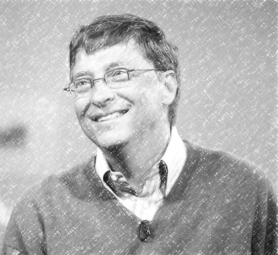 celebrities bill gates by Adam Asar