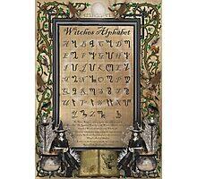 Witches Alphabet Photographic Print