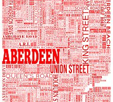 Aberdeen City Text Map by sarahrosephotos