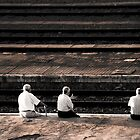 Spaniards waiting for the next train by Eduardo Gonzalez Meneses