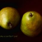 Green Pears Perfect Pair Card by LouiseK