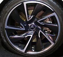 Citroën DS5 Hybrid Wheel [ Print & iPad / iPod / iPhone Case ] by Mauricio Santana