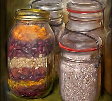 Mason jar  by Dave  Higgins
