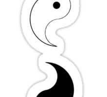 Yin Yang Disassembled Sticker