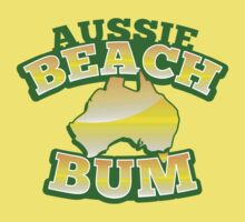 Aussie Beach Bum cute Australian design with map of Australia by jazzydevil