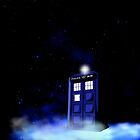 TARDIS on a Cloud - Dark Sky iPhone by jlechuga