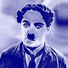 CHARLIE CHAPLIN-LITTLE TRAMP (BLUE) by OTIS PORRITT