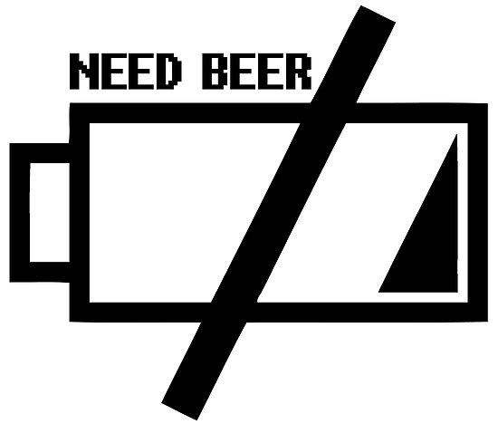 Battery  Need Beer by jpmdesign