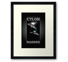 Cylon Raider Space Patrol Framed Print