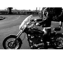 Film Noir Punk Harley Davidson Photographic Print