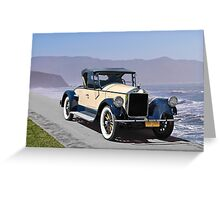 1925 Pierce-Arrow 80 Runabout Greeting Card