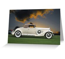 1933 Packard 12 Convertible Greeting Card
