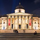 The National Gallery on Trafalgar Square, London by Chilla Palinkas