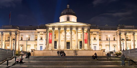 The National Gallery on Trafalgar Square, London by Chilla Palinkas