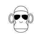 Aviator Monkey B&W by mrmoustache